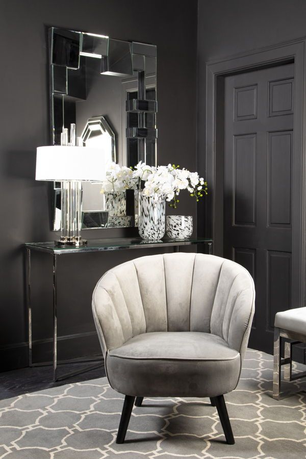 Our Art Mono room combines the opulence of Art Deco design with a sleek monochromatic colour palette ⚫⚪ Relatively simplistic, the interior setting is built around clean lines and streamlined accessories. A monochromatic colour palette provides a unique interpretation of luxurious art deco style.  #artdeco #livingroomdecor #monochrome #greyhome #greydecor #greyinterior #greychair