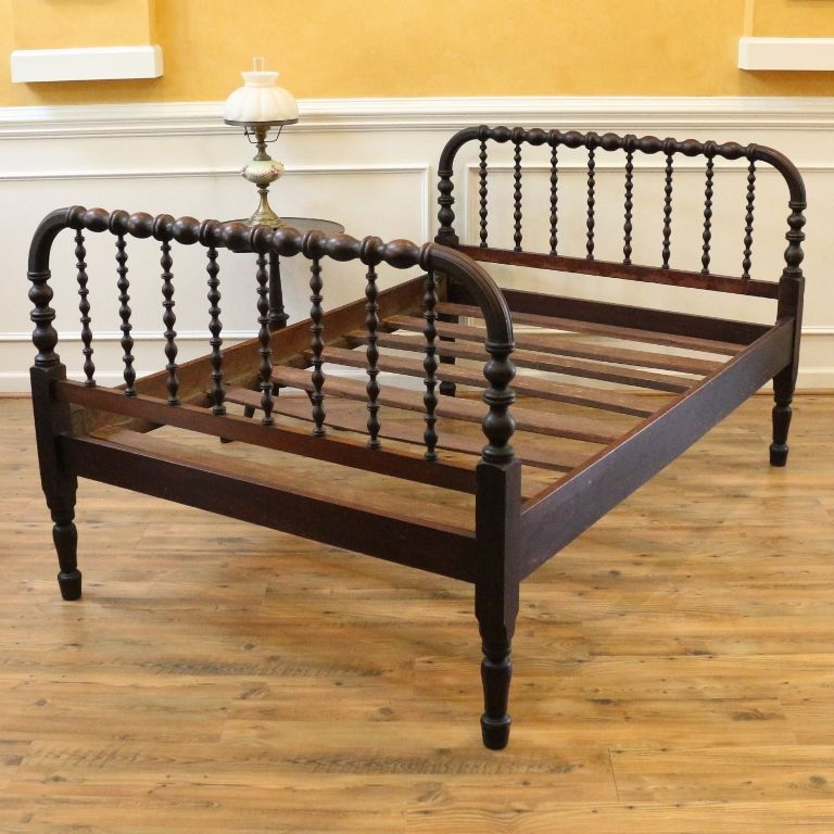 Antique Spool Bed Full Size Jenny Lind Style Www Rubylane Com