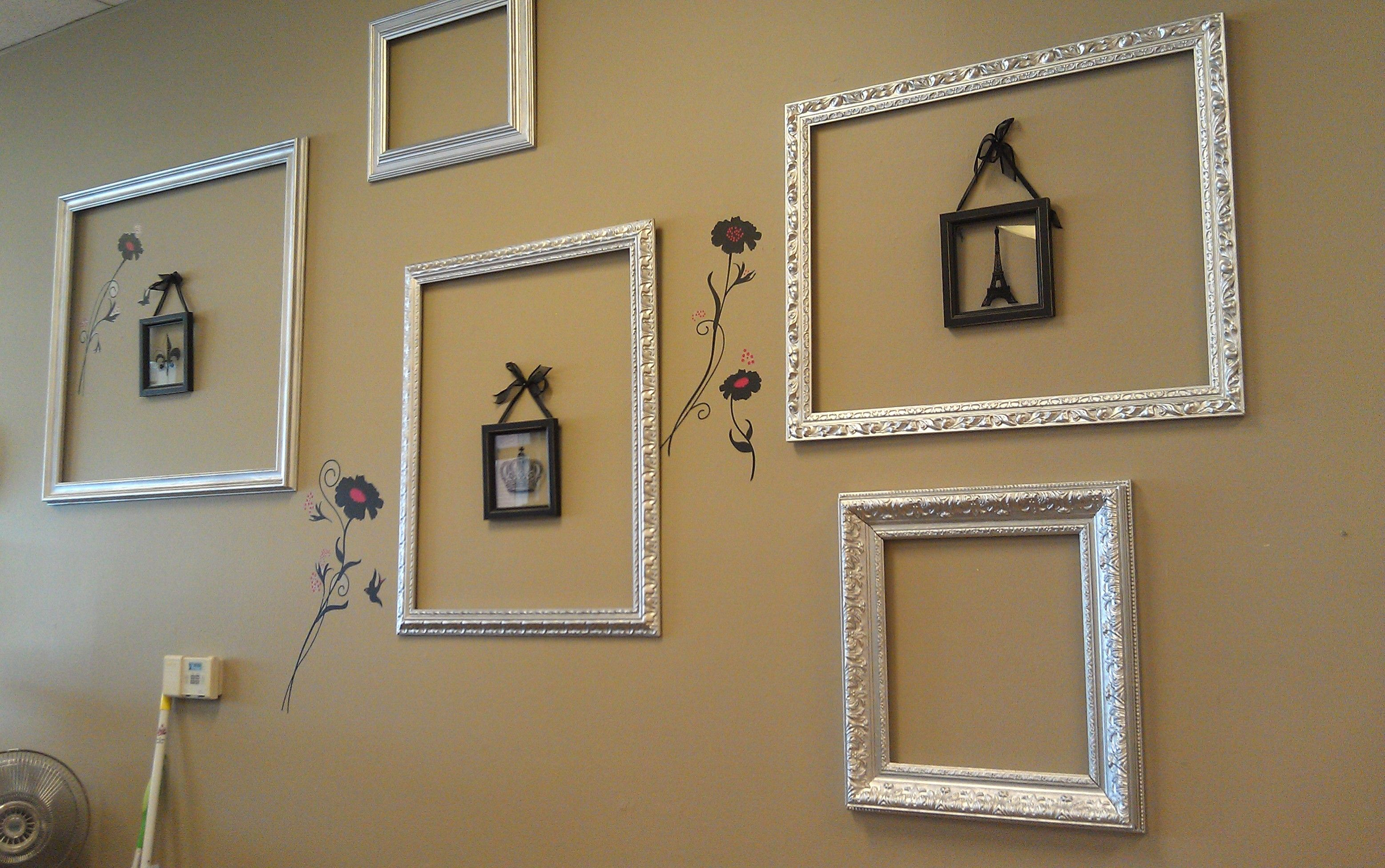 Our Feature wall designed with repurposed Picture Frames | The ...