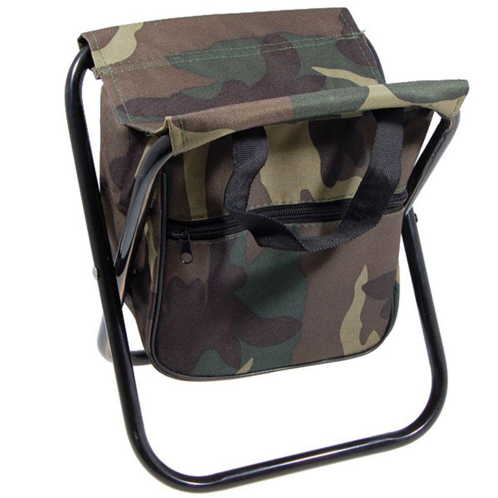 Backpack fishing chair - Portable Folding Camping Chair Foldable Fishing Stool Chair With Storage Bag Free Shipping