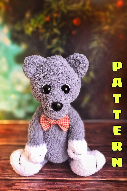 Stuffed Wolf Crochet Plush Animals - Woodland Nursery Baby Gift ... | 1500x1000