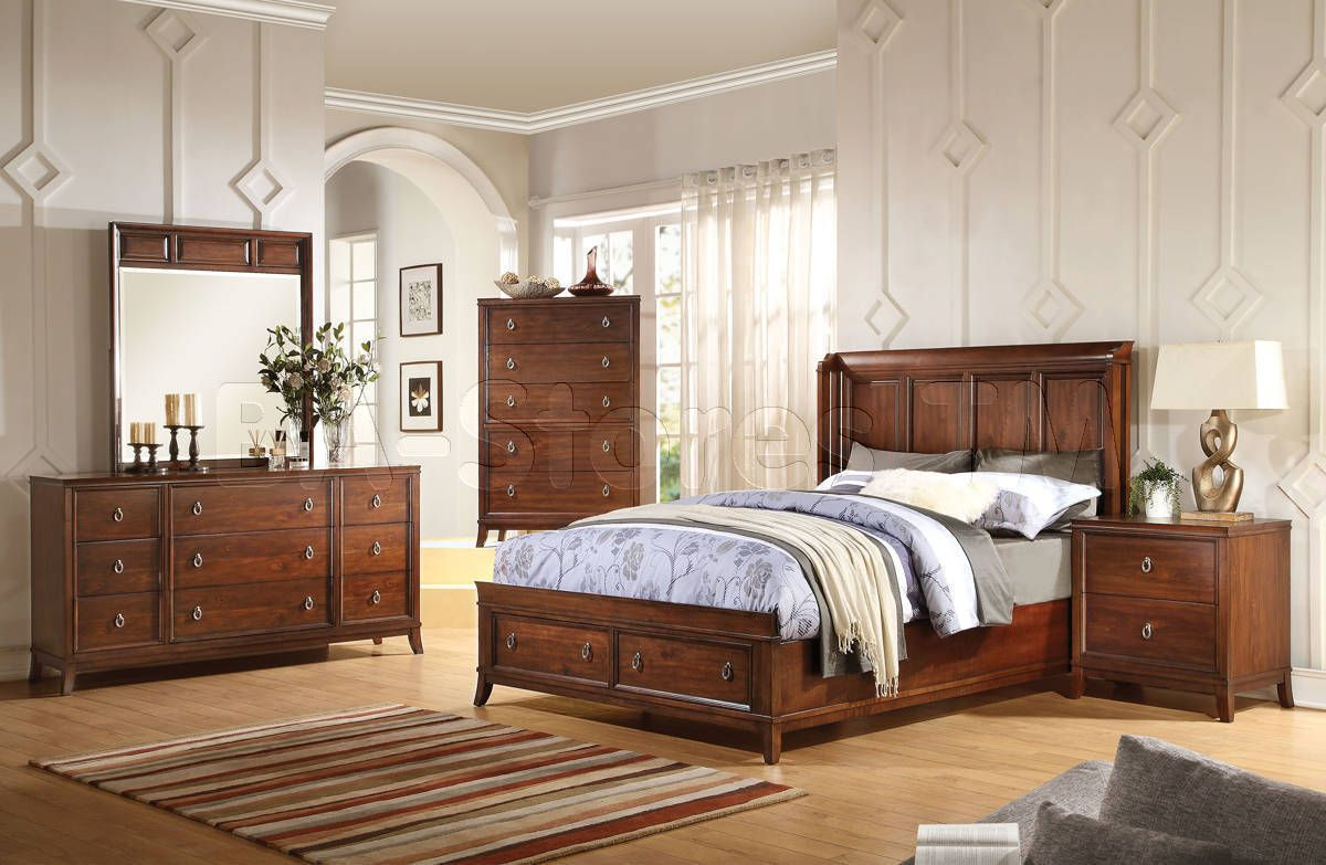 Midway Transitional Storage Bedroom Set by Acme Furniture ...
