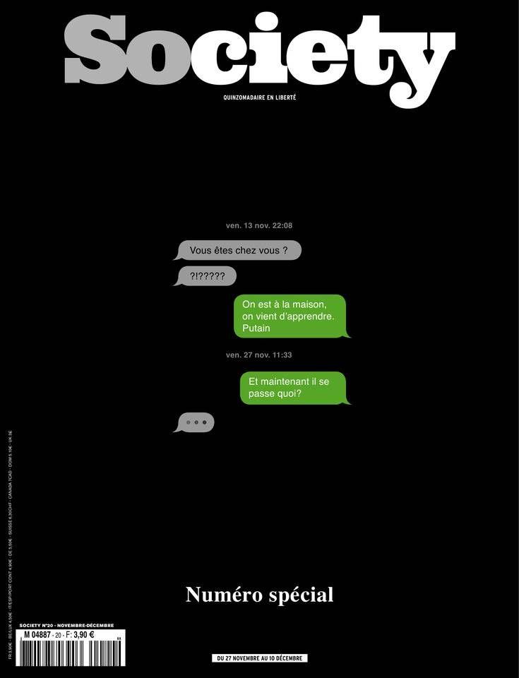 Society -N° 20 - Vendredi 27 Novembre 2015
