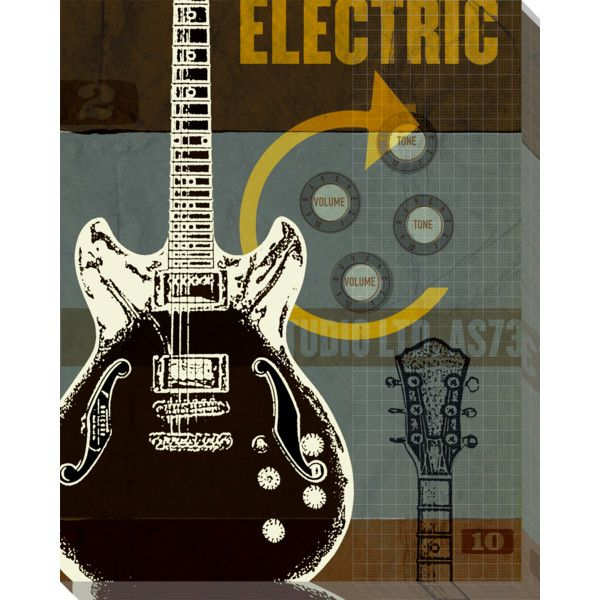 Art Classics LTD Guitar I Acrylic Wall Art by Phoenix Creative (210 ...
