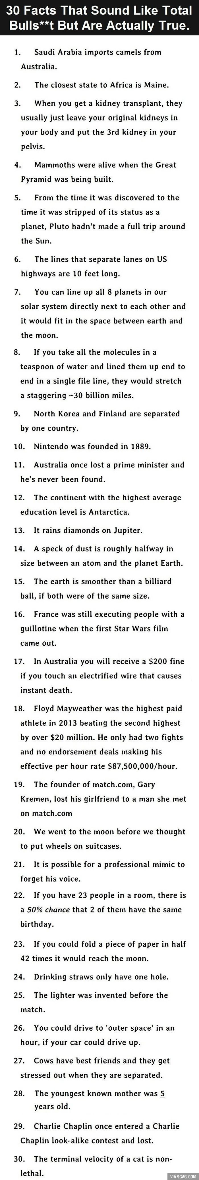 Facts That Sound Like BS But Are Actually True Is Mind - 20 absurd facts sound made up but are actually completely true