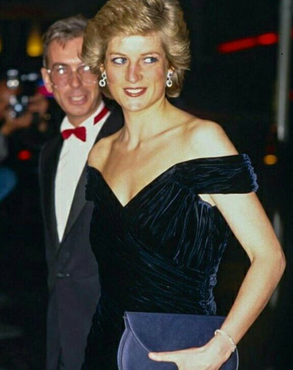 27 April 1988: Diana, Princess of Wales, attends the film premiere of 'Wall Street', in London's West End