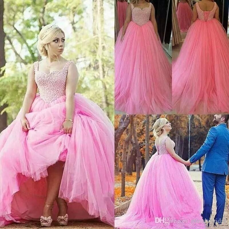 2018 Quinceanera Dresses Hot Pink Tulle Masquerade Ball Gown Sweet ...