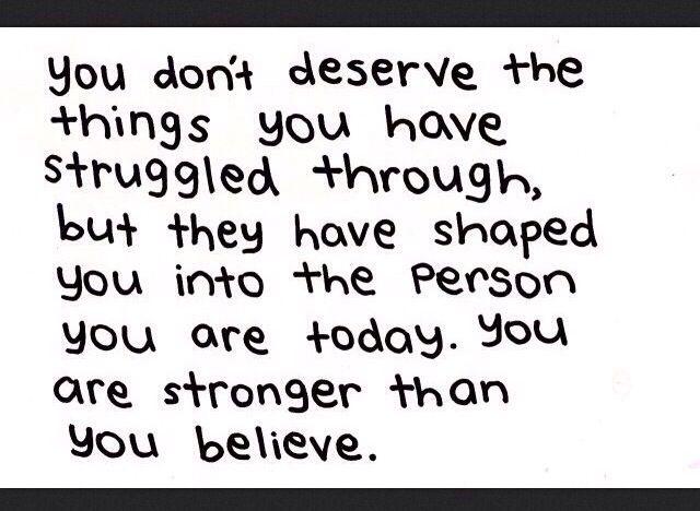 struggles.