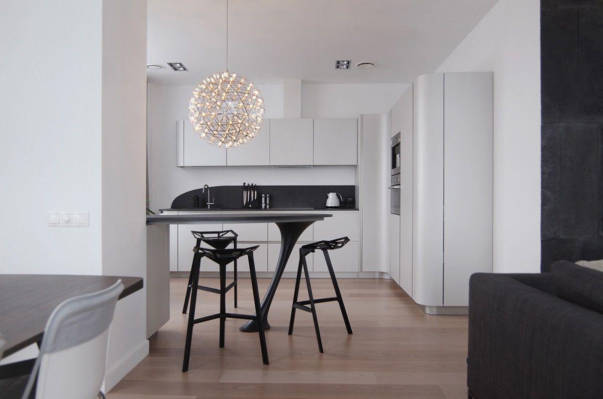 Ein Fantastischer Schwarzweiss Moderner Esszimmer Entwürfe, Die Eine  Attraktive Dekor Ideen Anwenden #attraktive #dekor #entwurfe #esszimmer  #fantastischer ...
