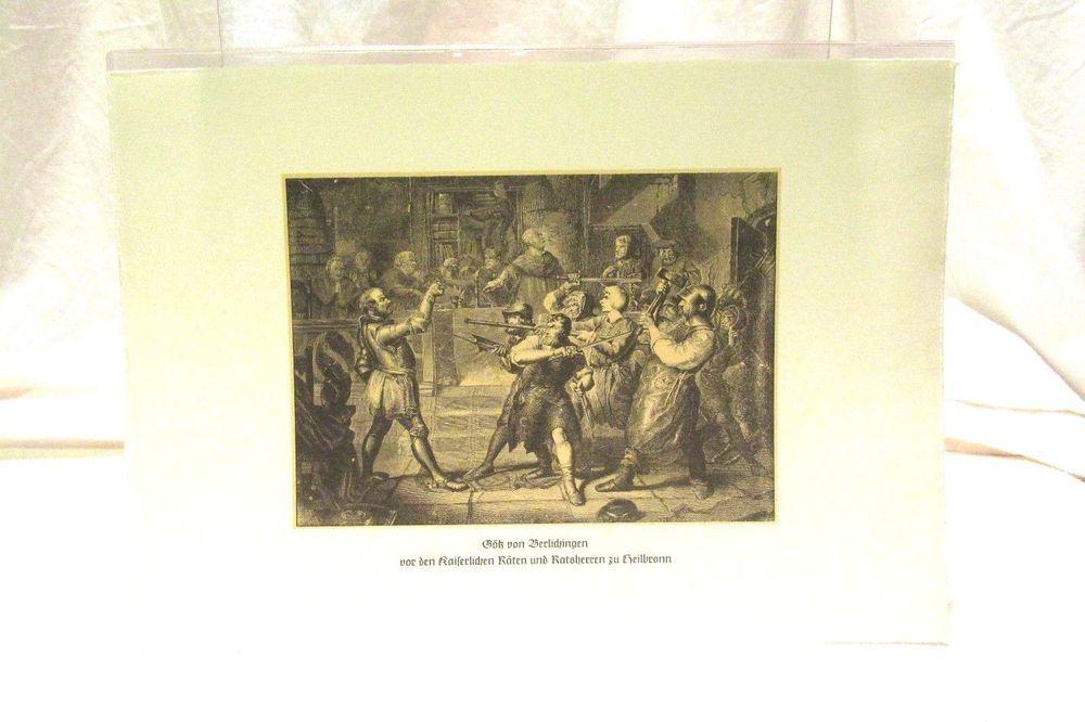 German Lithograph Of The Capture Of Goethe Gotz Von Berlichingen Heilbronn 1519 Soviet Art Lithograph Canvas Art Prints