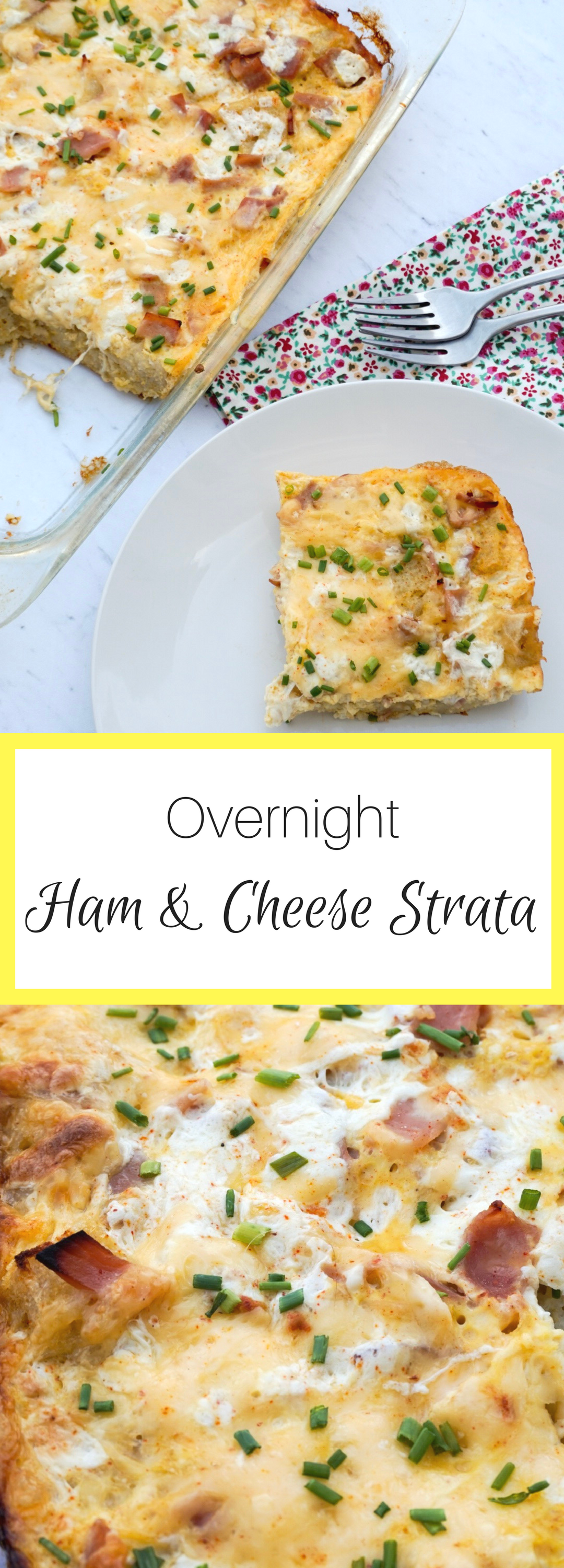 overnight ham and cheese strata recipe perfect casserole for hosting a easter or spring brunch that the whole family will love - Cheese Strata Recipes Brunch