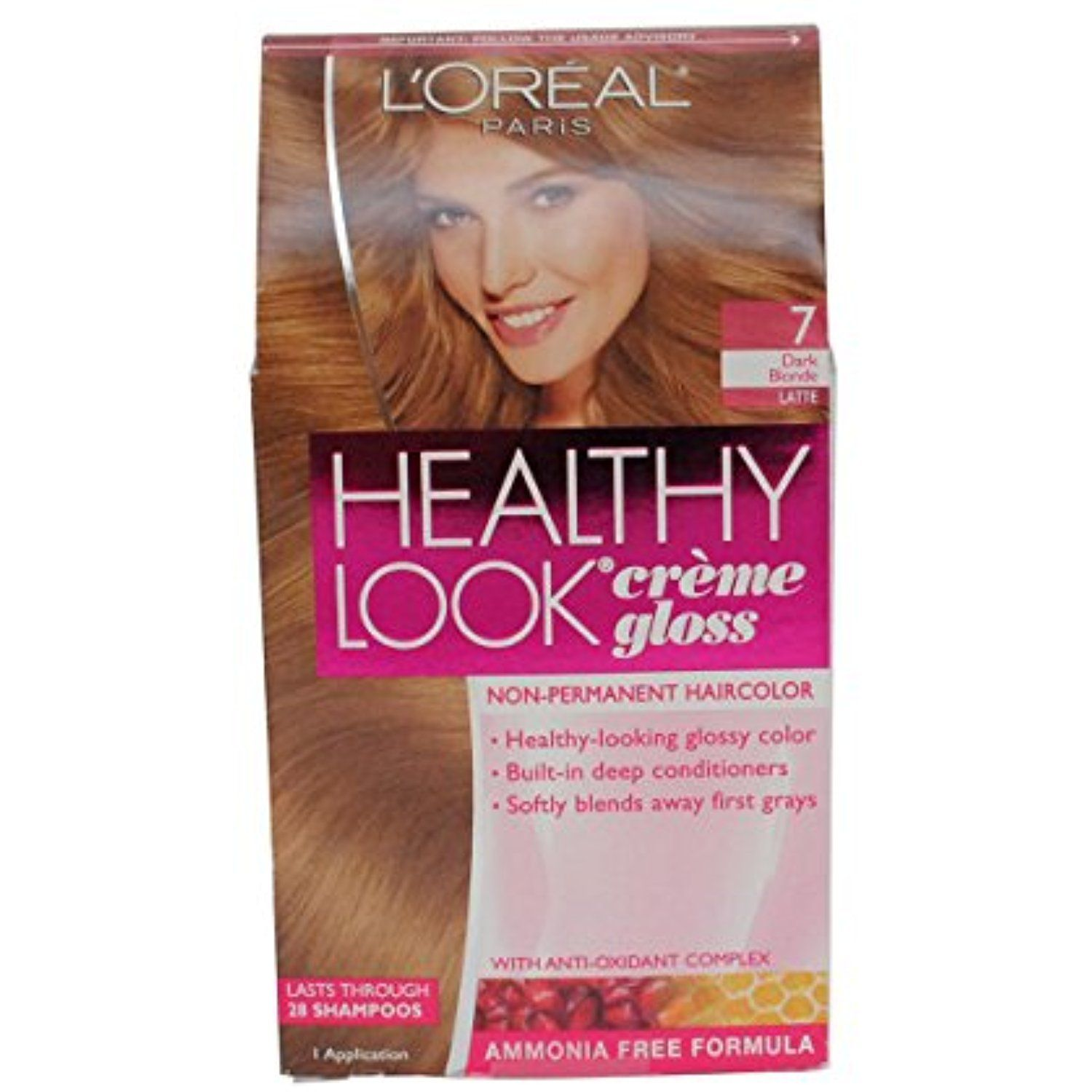 Loreal Healthy Look Creme Gloss Color Dark Blonde 7 1 Ct Pack Of