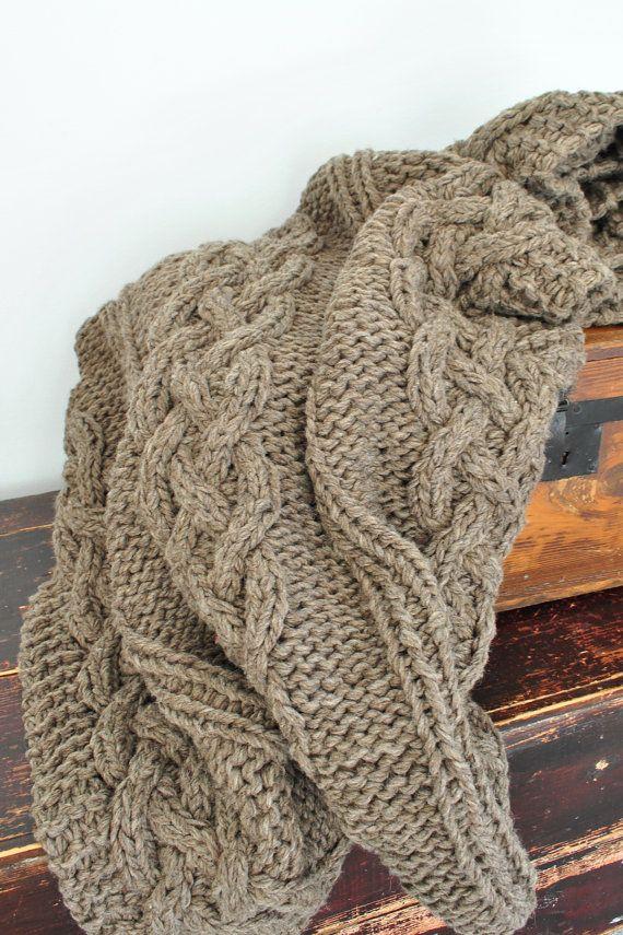 Manta de lana tiro Full/Queen o King tamaños por CampKitschyKnits ...