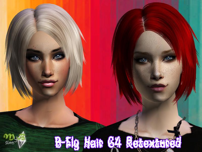 B-Fly Hair 62 Retextured