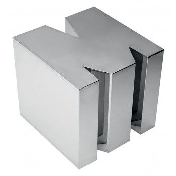 Letter side table m furniture andrew martin chrome 3d for Furniture 5 letters