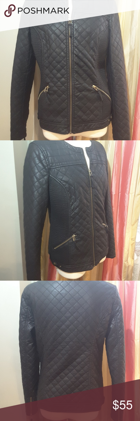 Love Token faux leather jacket (With images) Leather