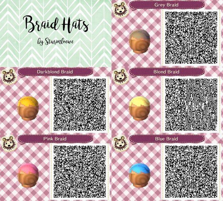 Animal Crossing New Leaf Qr Code Cute Braided Hair Braid Hat Fashion Blue Pink B New Ideas Animal Crossing Hair Animal Crossing Animal Crossing 3ds