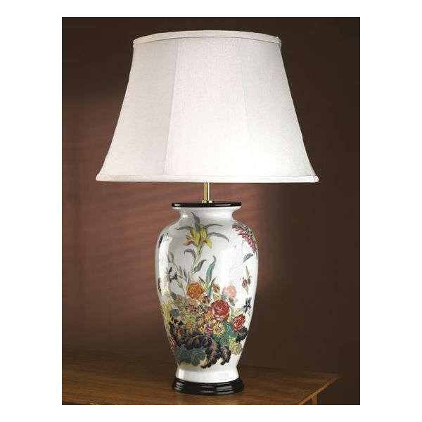 Wspaniała lampa stołowa z serii luis collection wykonana z chińskiej porcelany
