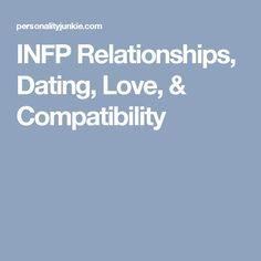 infp and dating