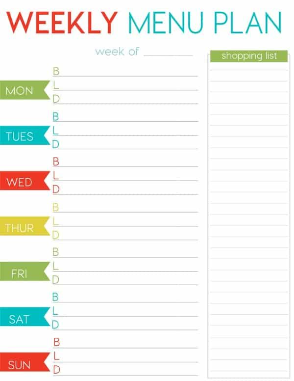 graphic relating to Printable Weekly Menu called Totally free Weekly Menu Planner Printable Excellent of Cottage Pins