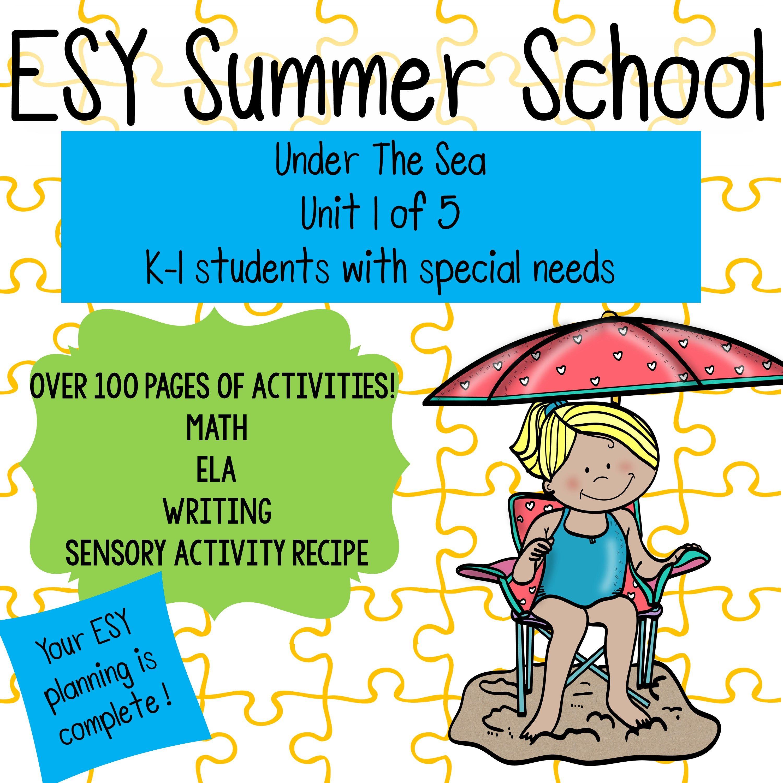Extended School Year Esy Summer School Bundle