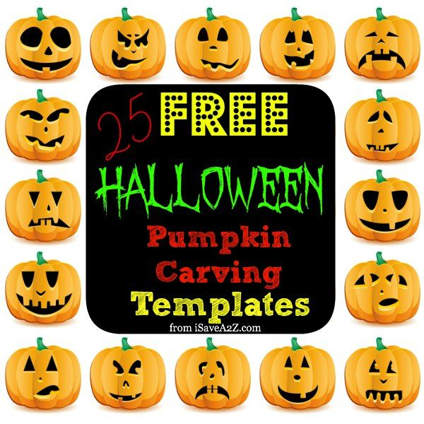 25 easy free halloween pumpkin carving templates - Halloween Pumpkin Carving Faces