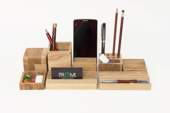 Desk Organizer Choose Your Boxes Desk Organization Wooden Desk Organizer
