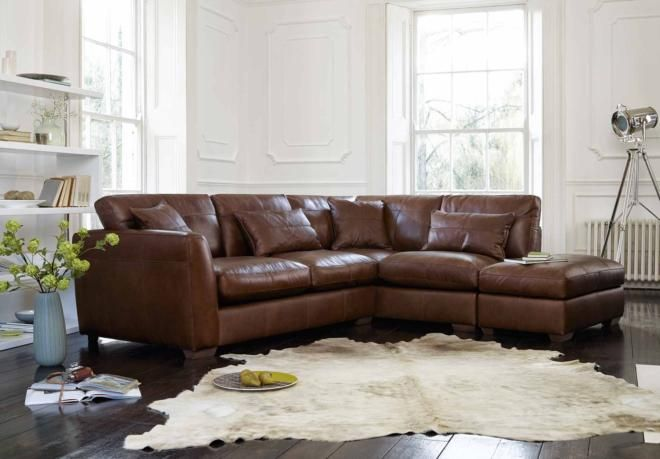 Rhf Corner Sofa With Footstool Savannah Gorgeous Living Room Furniture From Furniture Leather Corner Sofa Living Room Furniture Sofas Corner Sofa