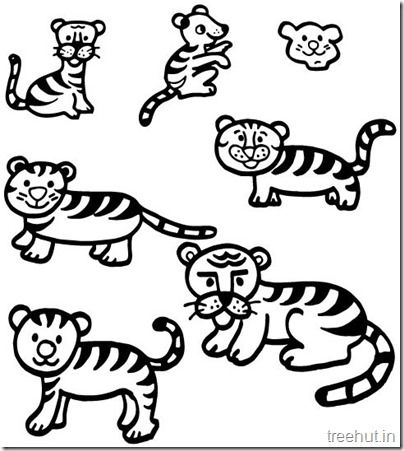 Tiger And Tiger Face Coloring Pages With Images Tiger Face