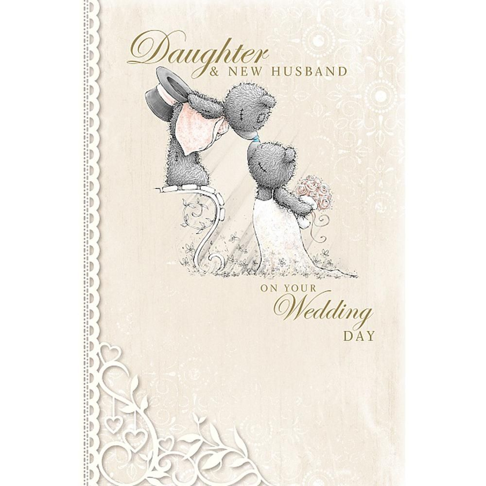 Daughter & New Husband Me to You Bear Wedding Card £3.59 | Teddy ...
