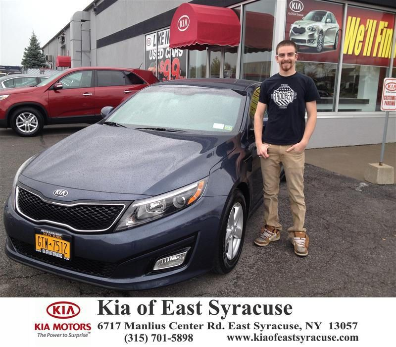 Congratulations to Daniel Balceniuk on your #Kia #Optima purchase from Michael Secules at Kia of East Syracuse! #NewCar