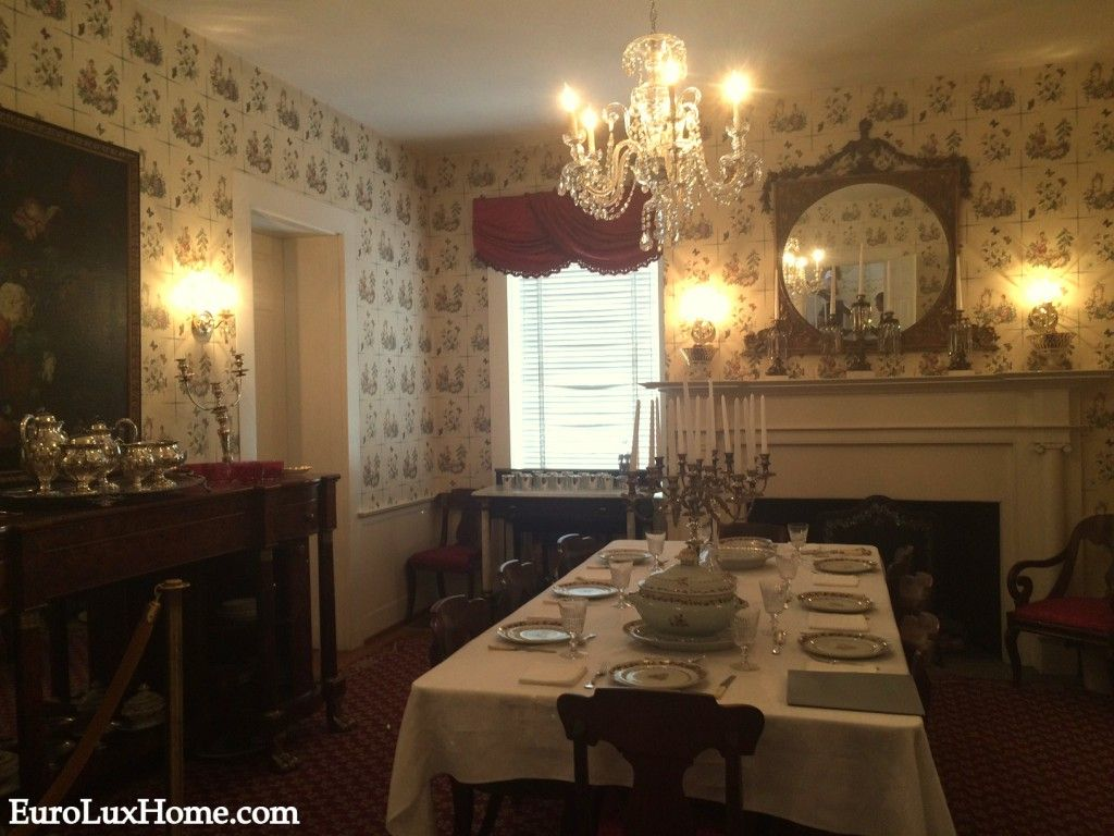 Mary Todd Lincoln House Dining Room Filled With Beautiful Antique
