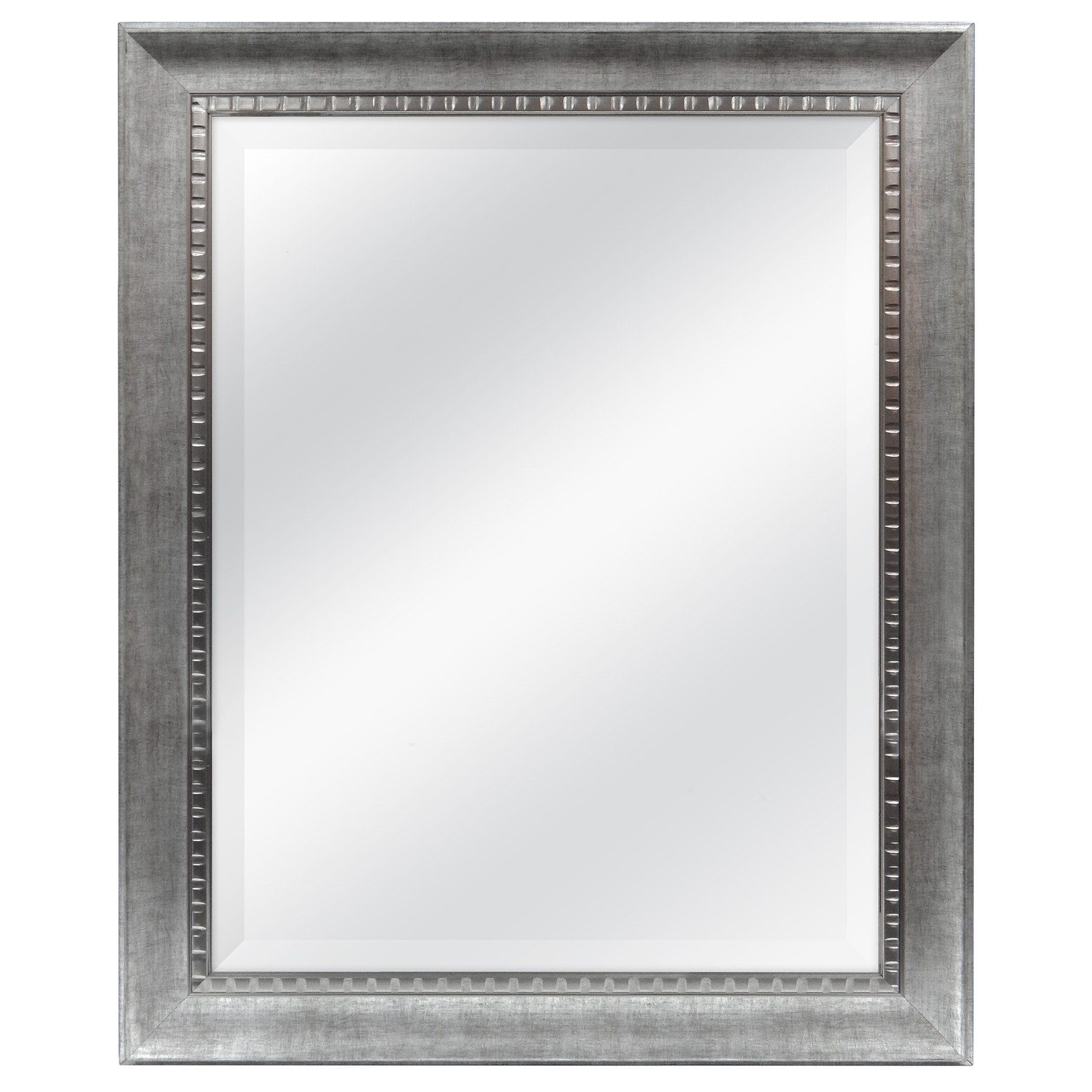Mcs 275X335 Inch Frame With 22X8 Inch Sloped Mirror, Silver