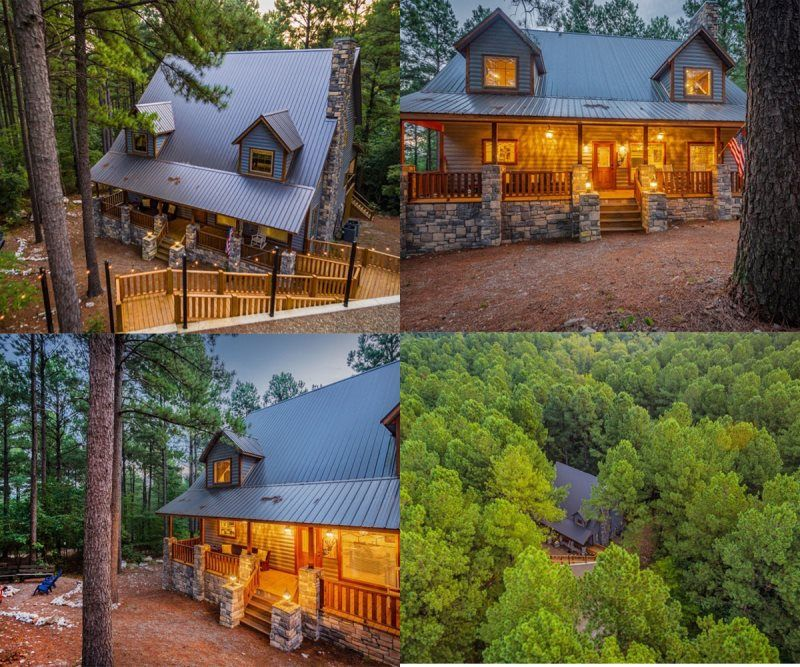 Four Blessings Beavers Bend Luxury Cabin Rentals Broken Bow Cabin Rentals Broken Bow Lake Cabins Bro In 2020 Luxury Cabin Rental Broken Bow Cabins Cabin Rentals