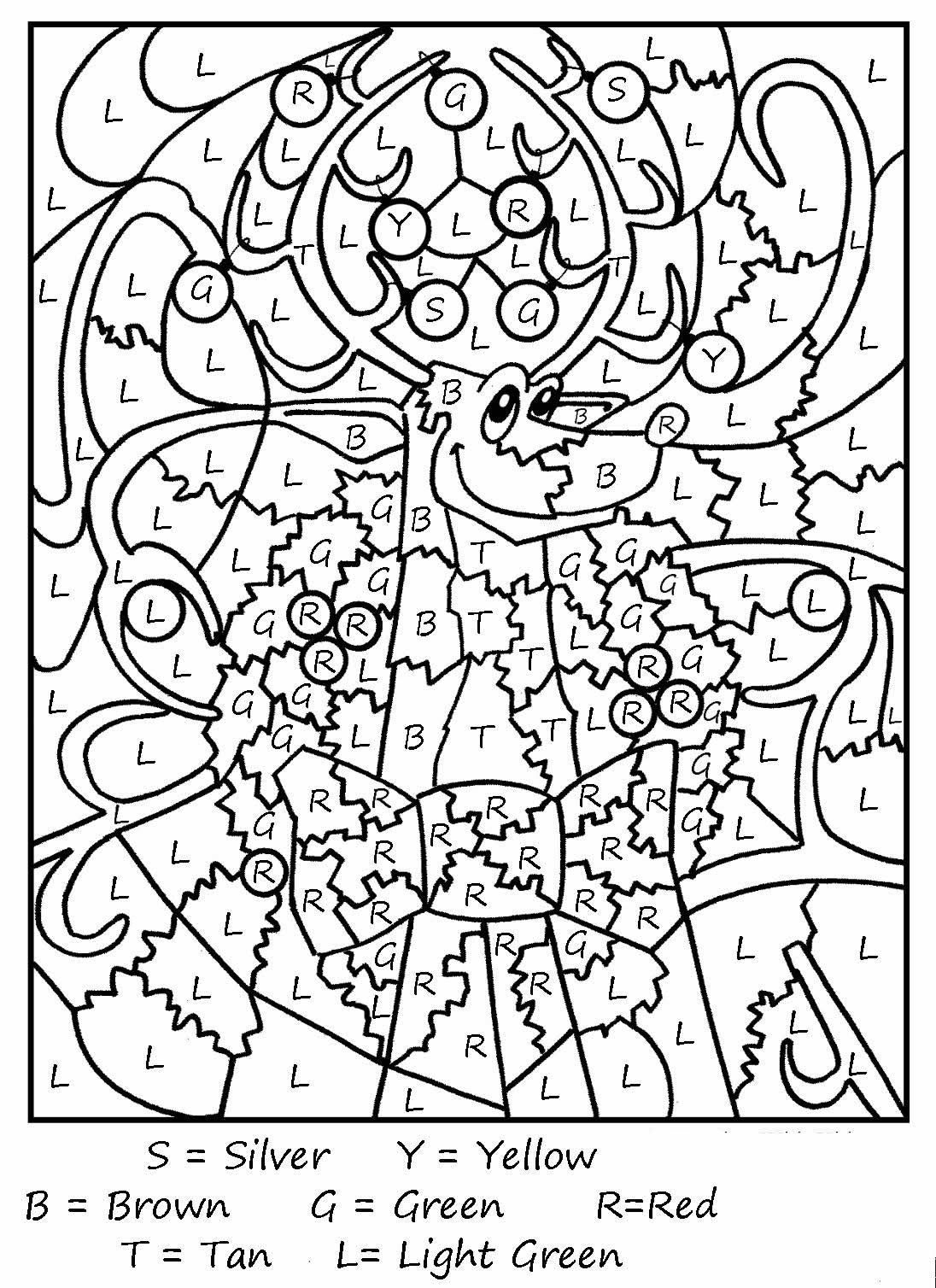Kids christmas coloring and activity sheets - Color By Letter And Color By Number Coloring Pages Are Fun And Educational The Instructions Are Simple To Determine The Color Of Each Space