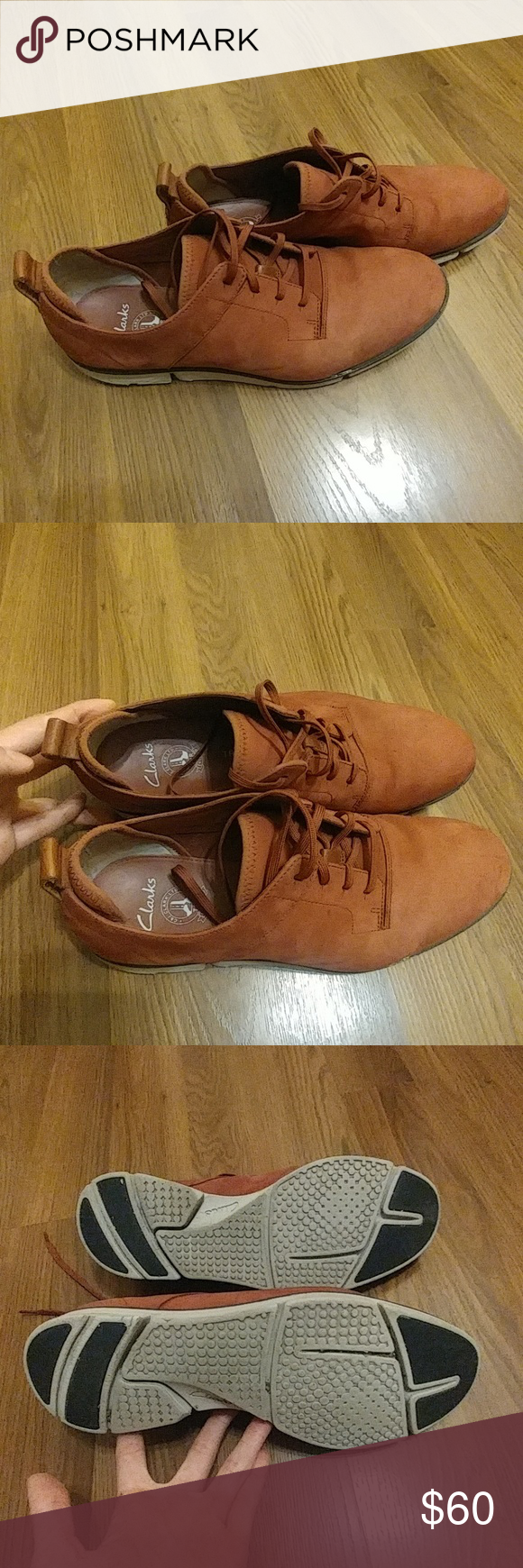juego Una vez más Permeabilidad  Clarks Trigenic Shoes Beautiful dark amber colored men's leather shoes from Clarks  US Size 10 They have some signs of wear on … | Leather shoes men, Clarks,  Shoes