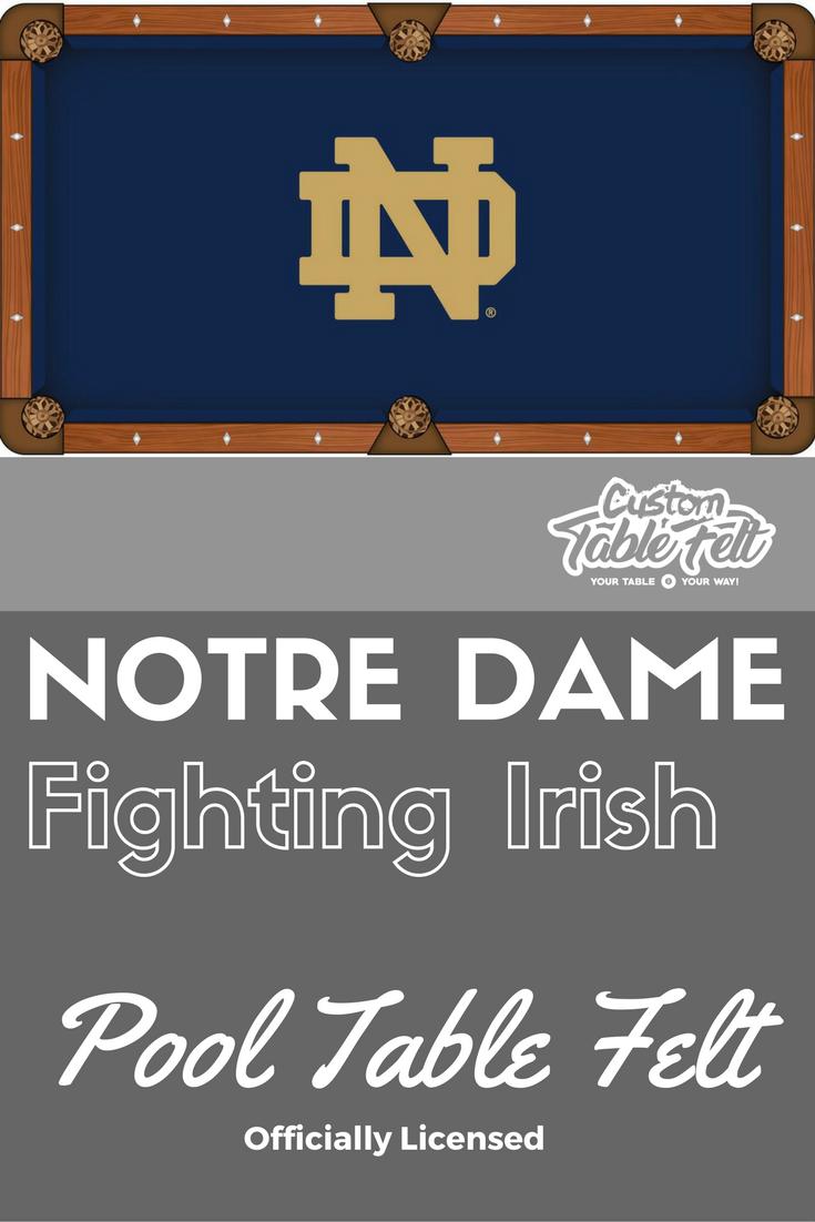 Wonderful Notre Dame Pool Table Felt. Licensed Billiard Table Cloth.