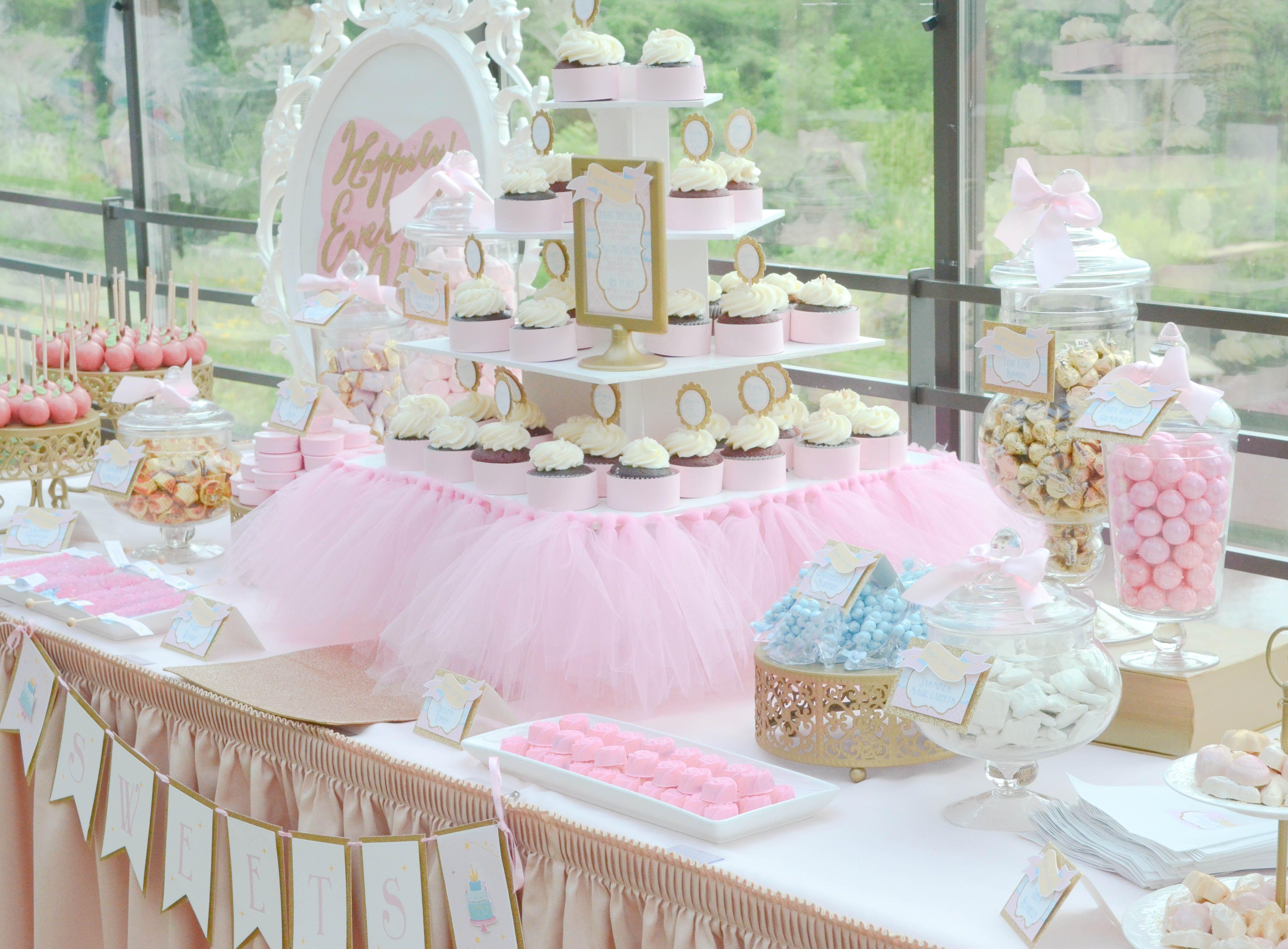 Princess Dessert Tables Disney Princess Happily Ever After Bridal Shower Dess Princess Bridal Showers Bridal Shower Desserts Bridal Shower Desserts Table