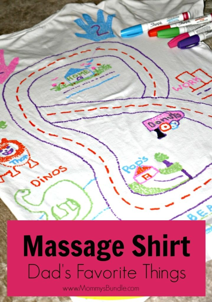 901ab366 DIY Massage Shirt: A memorable Father's Day craft and gift idea including  all of dad's favorite stops!