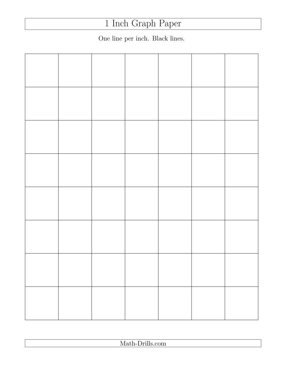The 1 Inch Graph Paper With Black Lines A Math Worksheet From The Graph Papers Page At Math Drills Free Math Printables Graphing Kindergarten Math Printables [ 1165 x 900 Pixel ]