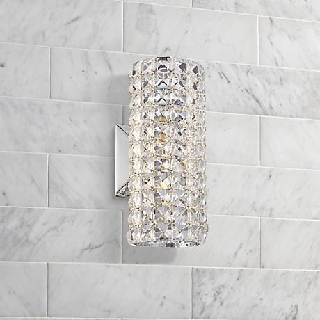 Bernadette 10 1 4 Quot High Crystal Cylinder Wall Sconce