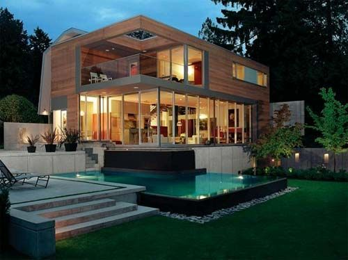 Private Residence Design, Modern Home Designed By Hotson Bakker Architect.  Located In Vancouver,