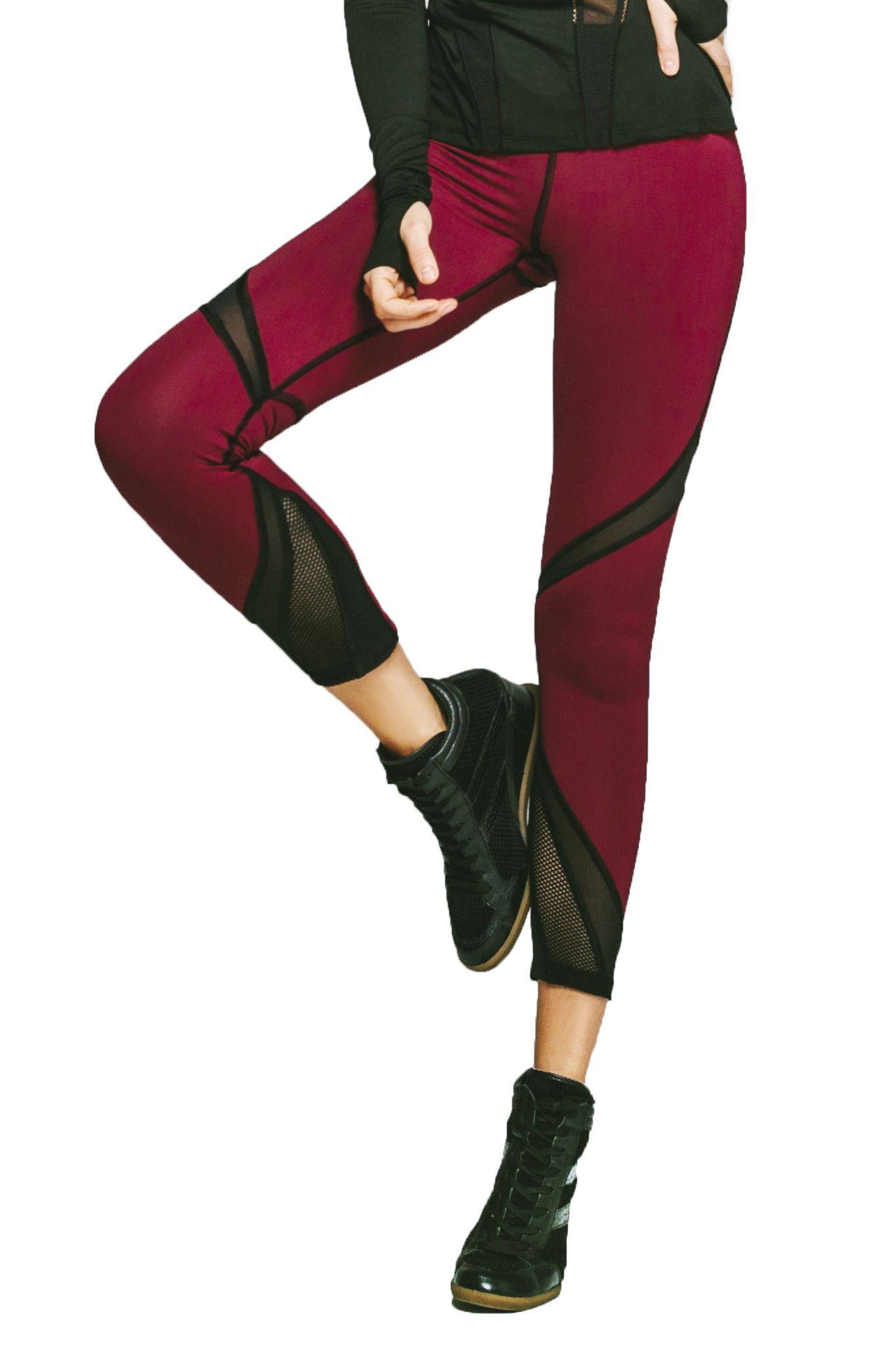 8a95aa5ce6218 Radiate Crop Legging - Shiraz / Black | #SweatCouture | Fashion ...