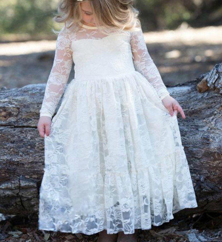 Lace flower girl dress flower girls pinterest flower girl