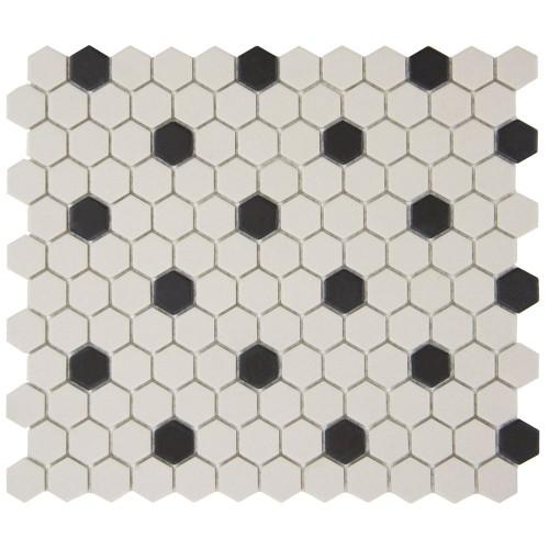 Unglazed Porcelain Rosette Mosaic 1 Inch Unglazed Porcelain Porcelain Mosaic Mosaic Flooring