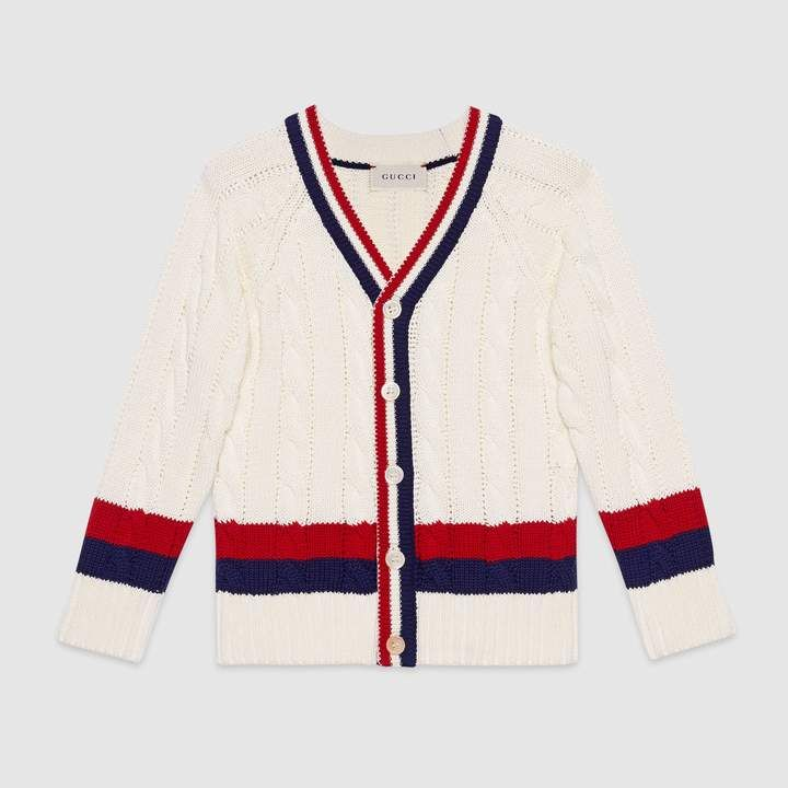 33c3f1665 Gucci Children's cotton cardigan with Web in 2019 | Products ...