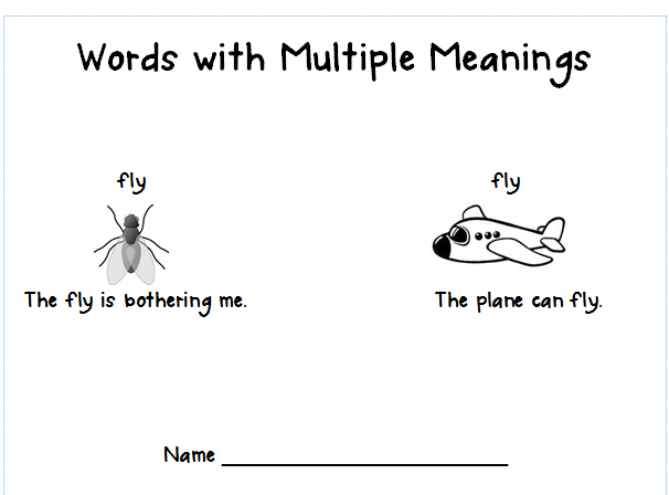 First Grade Shenanigans: Words with Multiple Meanings