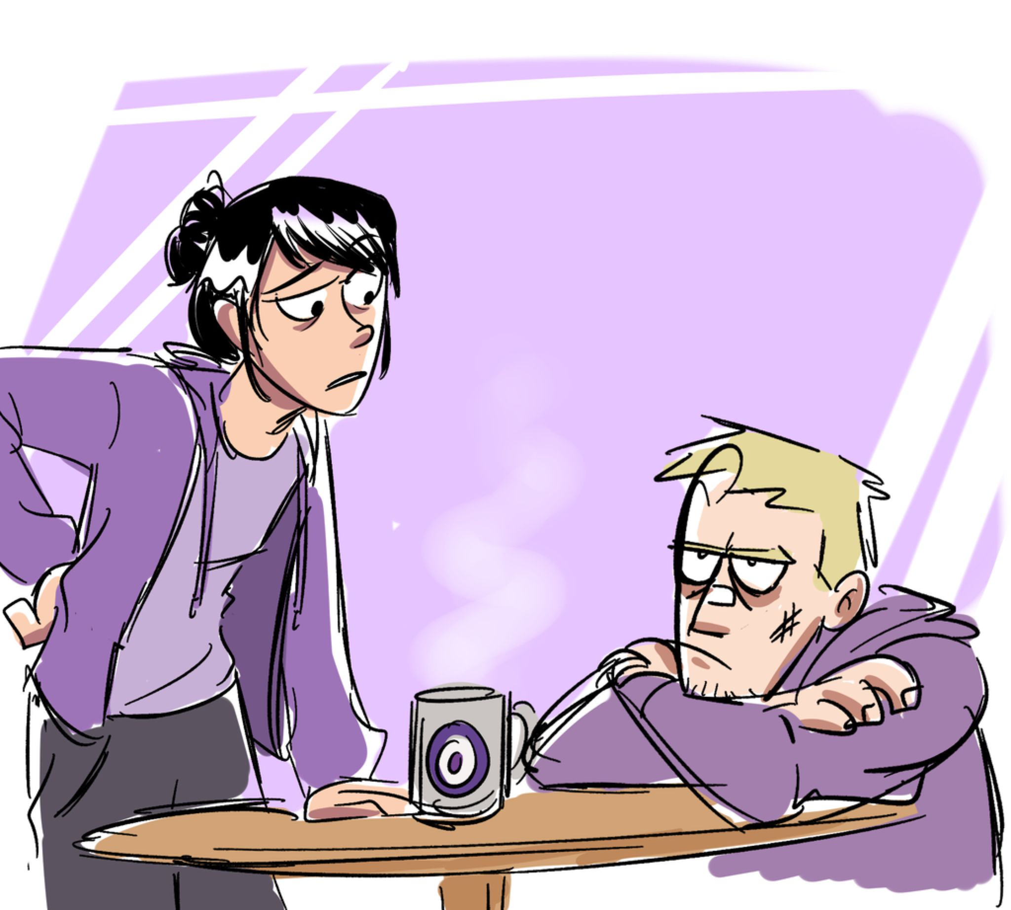 Two Bummed out Hawkeyes by xxiiCoko on @DeviantArt
