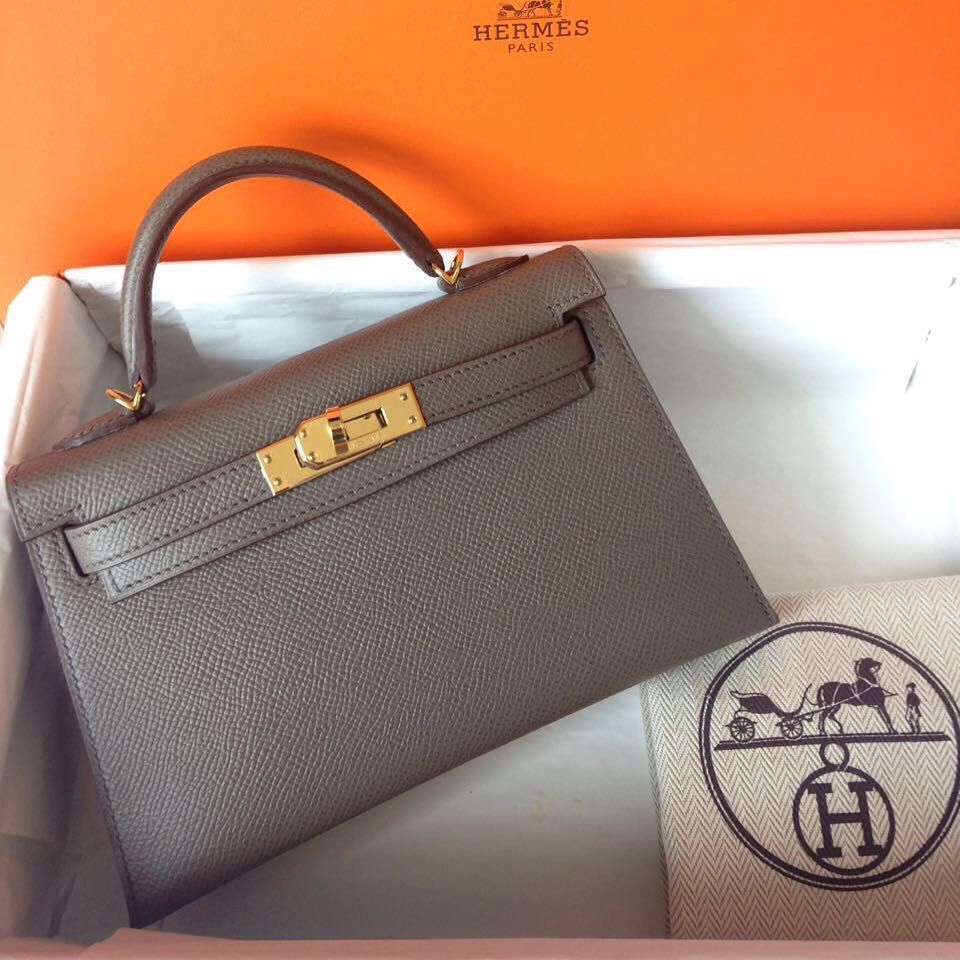 0355ae3cd3e Hermes Kelly 20 Etain Epsom Sellier Ghw A