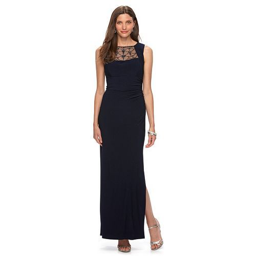 b0726249e20f Women's Chaps Beaded Sheath Evening Gown | clothes | Evening gowns ...